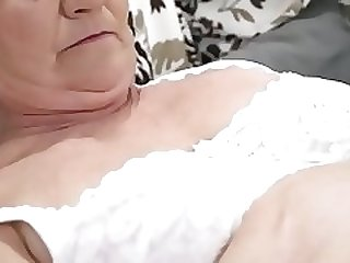 Old hairy pussy filled with young cock